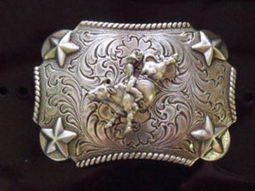 Nocona Kid's Bull Rider Western Belt Buckle