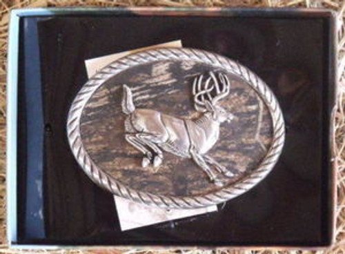 Nocona Mossy Oak/Deer Belt Buckle