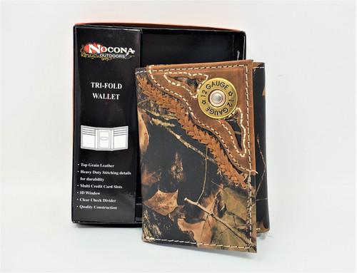 Nocona Mossy Oak/12 Gauge Tri-Fold Wallet