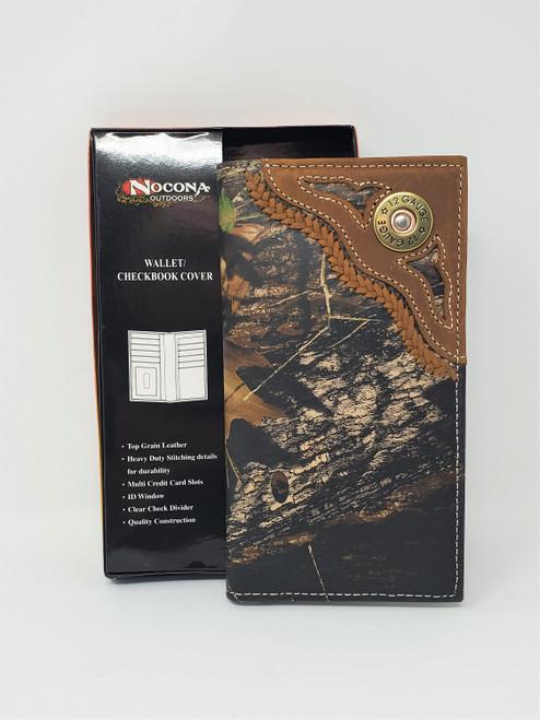 Nocona Mossy Oak/12 Gauge Rodeo Wallet/Checkbook