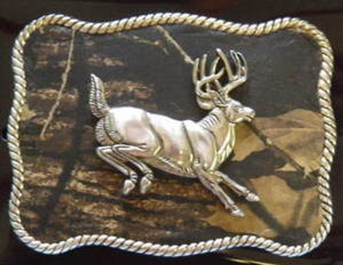 Nocona Mossy Oak/Buck Belt Buckle