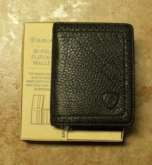 Ariat Black Leather Bi-Fold/Flipcase Wallet