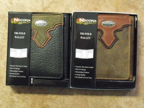 Nocona Genuine Leather Tri-Fold Wallet