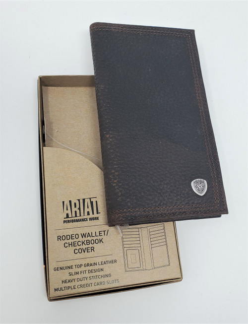 Ariat Leather Rodeo Wallet/Checkbook Cover