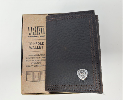 Ariat Genuine Leather Tri-Fold Wallet