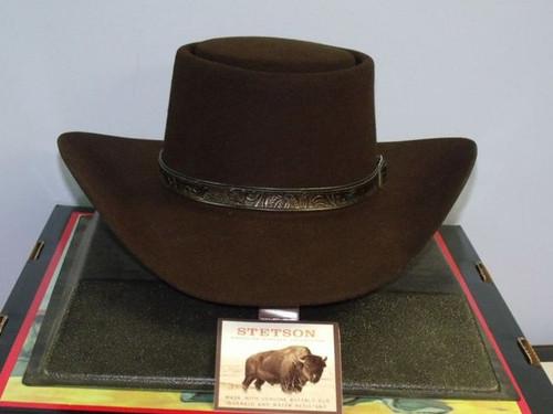 Stetson Revenger Buffalo Felt Western Gambler Hat