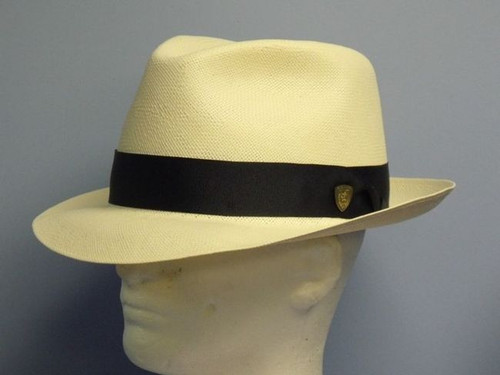 "Dobbs Center Dent/ 2 1/8"" Shantung Fedora Hat"
