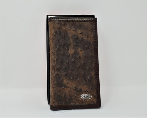 Nocona Ostrich Print Rodeo Wallet/Checkbook Cover