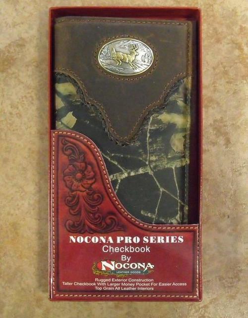 Nocona Mossy Oak/Buck Rodeo Wallet /Checkbook