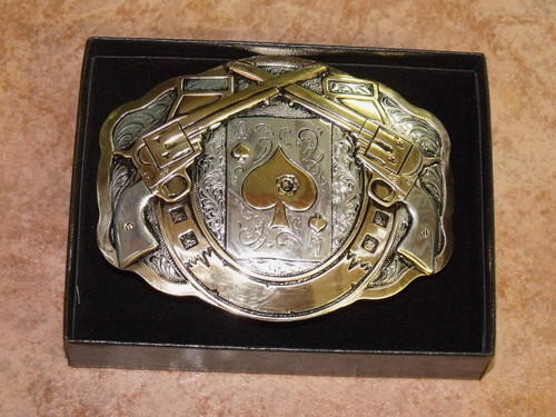 Crumrine Peacemaker Engravable Western Belt Buckle