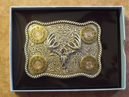 Nocona 12 Gauge/Skull Belt buckle