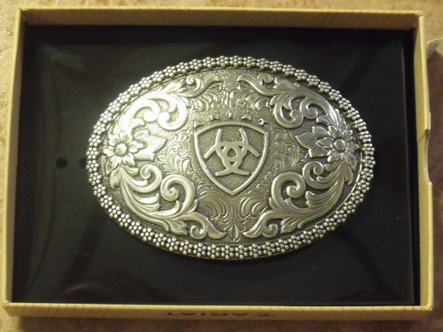 Oval Ariat Logo Western Belt Buckle