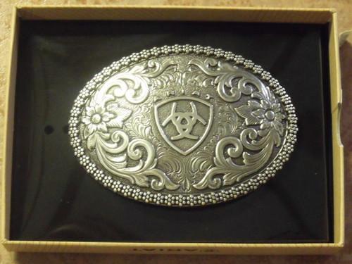 Oval Ariat Logo Western Belt Buckle