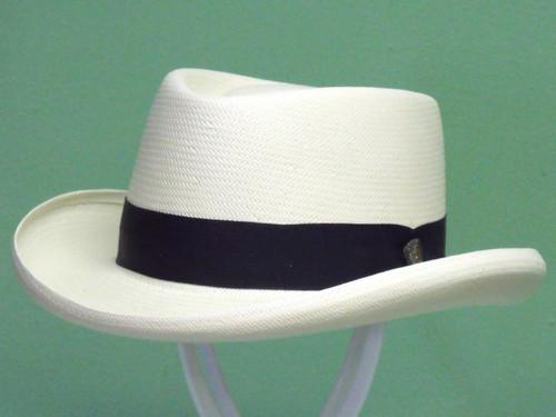 Dobbs Basino Shantung Straw Gambler Hat
