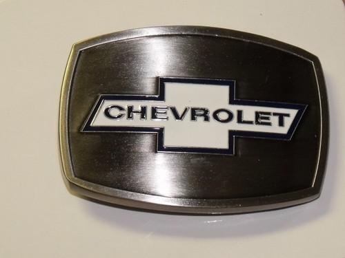 Chevrolet Stainless/Enamel Belt Buckle