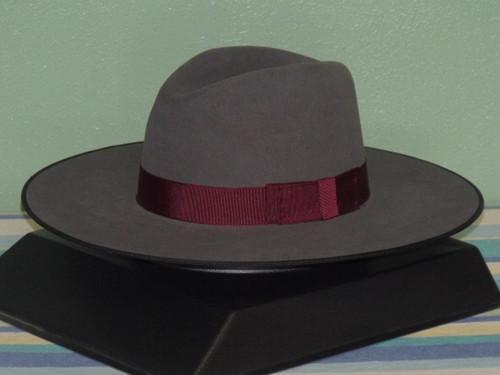 Stetson Tri-City Flat Brim Fur Fedora Hat