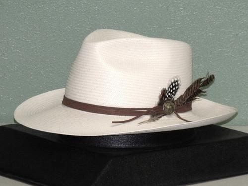 Stetson Tallahassee Shantung Straw Fedora Hat