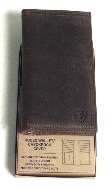 Ariat Rowdy Brown Leather Rodeo Wallet/Checkbook