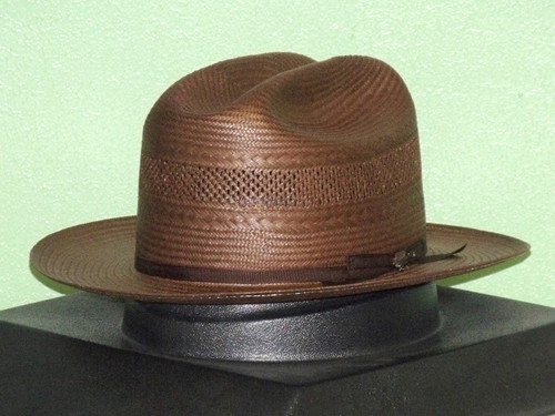 Stetson Shantung Straw Vented Open Road Western Hat