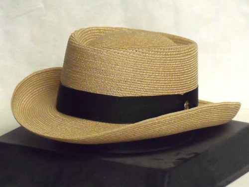 Stetson Pin Seeker Hemp Braid Gambler Hat