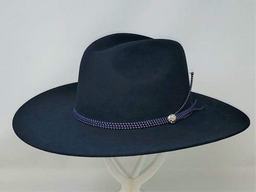 Stetson Four Points Navy Fur Felt Western Hat