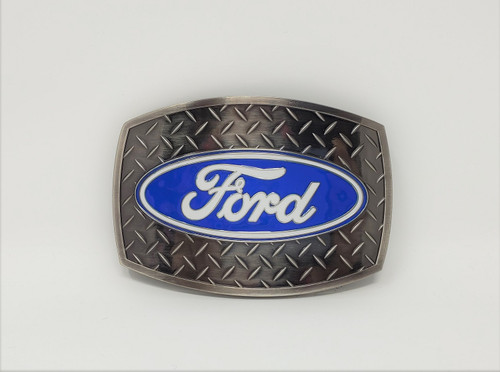 Ford Diamond Plate Stainless Steel Belt Buckle