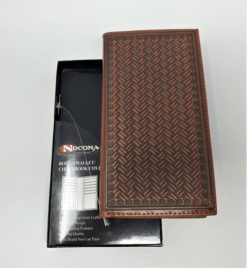 Nocona Tan Embossed Rodeo Wallet/Checkbook Cover