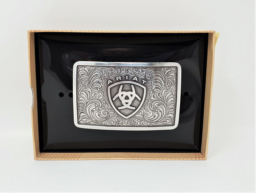 Ariat Logo Western Belt Buckle
