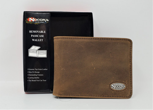 Ariat Brown Leather Bi-Fold/Flipcase Wallet