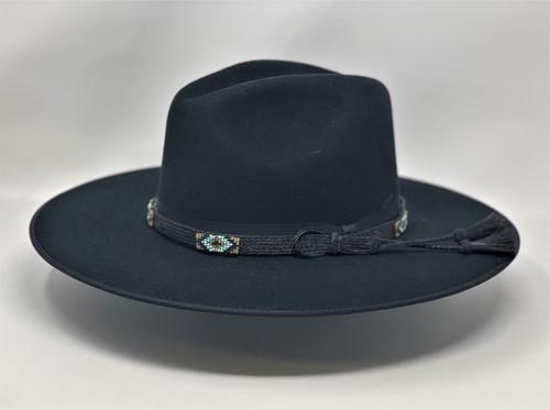 Stetson Helix Black Flat Brim Western Hat