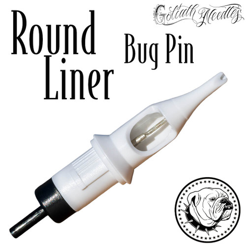 Round Liner BugPin White