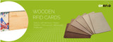 New Eco-Friendly NFC Card in Wooden material