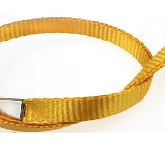 Fabric Lanyards, 1cm width, coarse  thread, with big hook (LY1003)