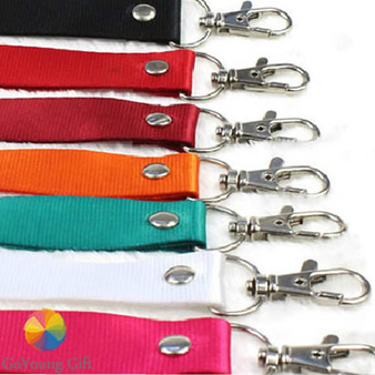 Fabric Lanyard 2cm width, fine thread, with scale hook(LY2001)