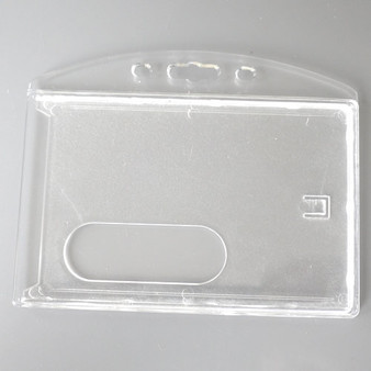 Rugged Plastic, double layer, transparent white Card Holders (CH102-H)