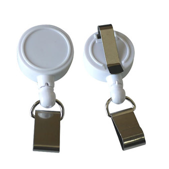 ID Card Reel, smaller Card Badge with clip back (BD005)