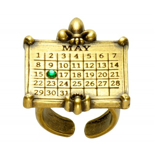 """Your Special Day"" Fleur de Lis Calendar Ring - Adjustable"