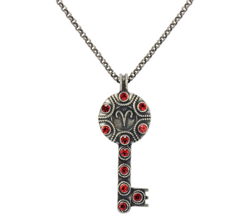 Key Zodiac Sign Necklace  ARIES
