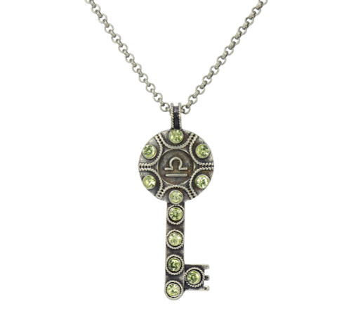 Key Zodiac Sign Necklace LIBRA