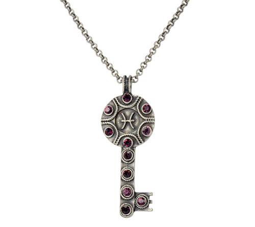 Key Zodiac Sign Necklace  PISCES