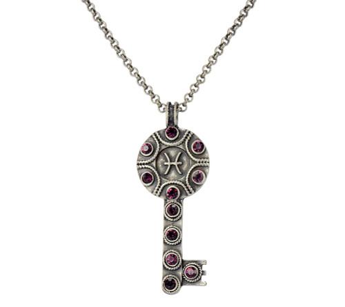Key Zodiac Sign Necklace  PISCES