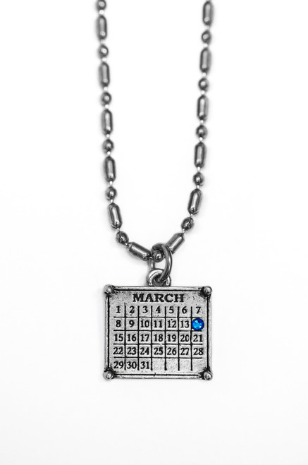 "Your ""Cancerversary"" Mini Calendar Charm (Ball chain included)"