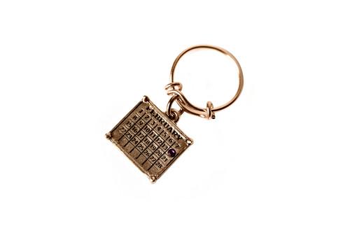 "Your ""Cancerversary"" Mini Calendar Charm expandable ring"