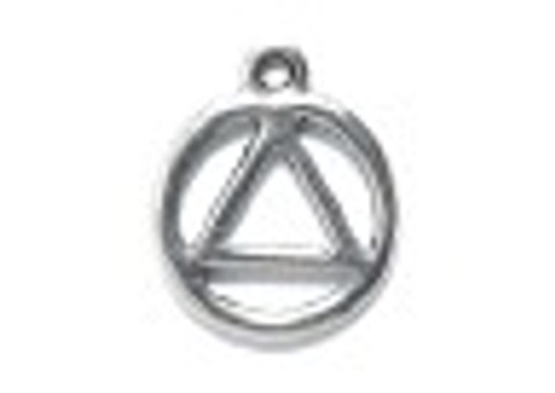 AA/recovery symbol charm small