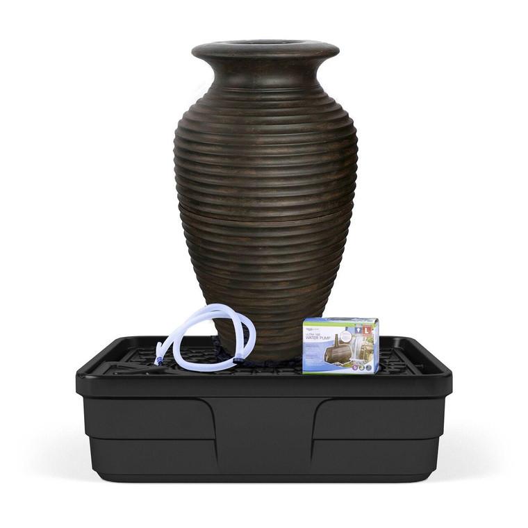 Medium Rippled Urn Fountain Kit
