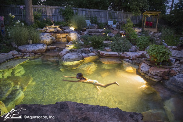 Pretty Backyard Lighting Ideas for Your Pond, Waterfall, or Fountain