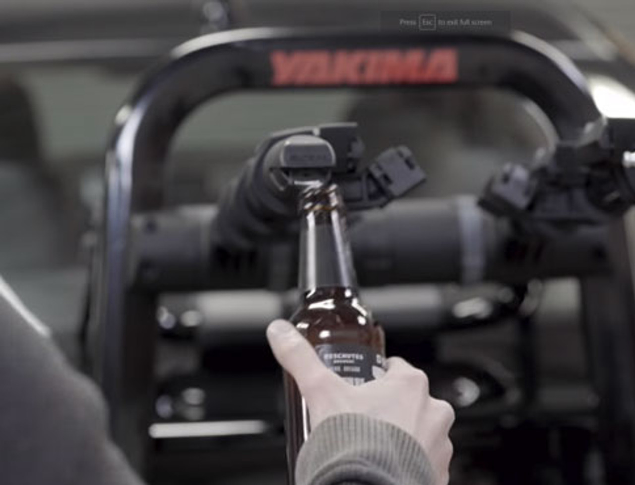 Yakima Fullback Trunk Bike Rack beer bottle opener