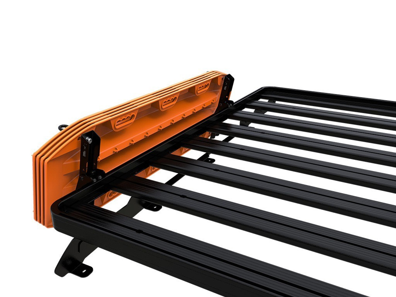 Recovery Device & Gear Holding Side Bracket (RRAC103) shown with option Maxtrax recovery . (used with Slim Line II Load Rack)