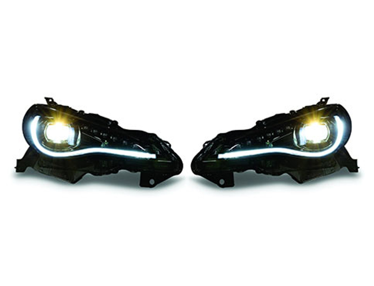 Toyota 86 / Scion FR-S Blacked out LED Headlight units