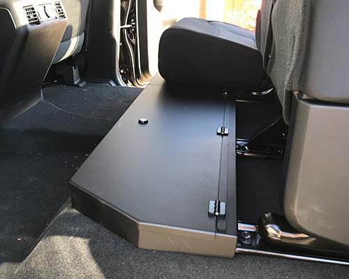 2014 - 2018 Toyota Tundra CrewMax Aluminum Long Box Under Seat Storage